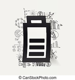 drawing business formulas. charge the battery