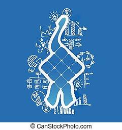 Drawing business formulas: ketupat