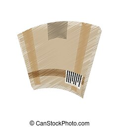 drawing cardboard box delivery symbol