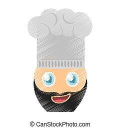 drawing chef emoticon image