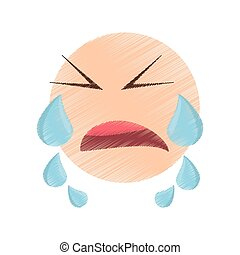 drawing crying emoticon image