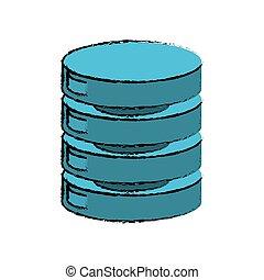 drawing data center server network