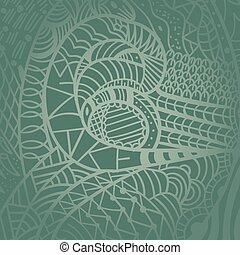 Drawing decorative Snake Background