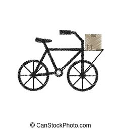 drawing delivery bicycle box service