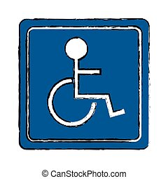 drawing disabled person wheelchair sign road