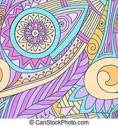 Drawing doddle seamless pattern