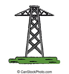 drawing electrical tower transmission energy power