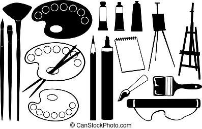 drawing - set of drawing tools