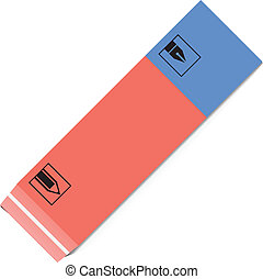 Drawing eraser - Drawing a pencil and eraser for ink. Vector...