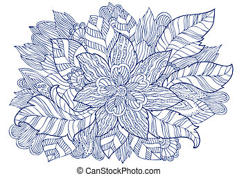 Drawing fashion floral ornament