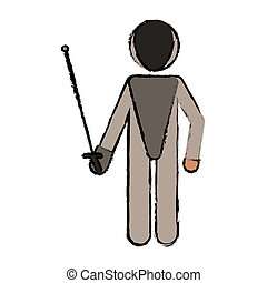 drawing fencing player sport athlete