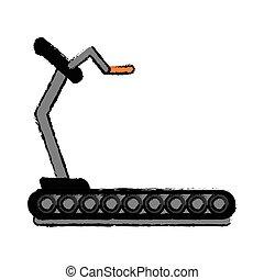 drawing fitness walking machine gym design