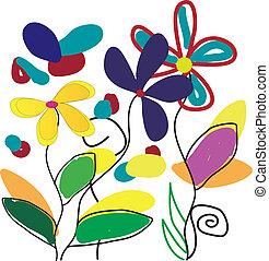 drawing flowers, love