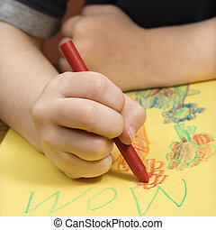 drawing., garçon