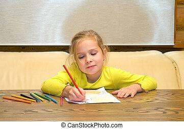 Drawing girl.