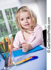 drawing girl