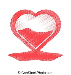 drawing heart blood donation symbol