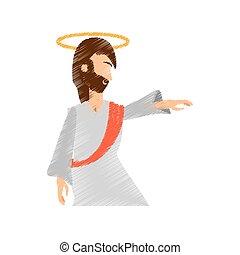 drawing jesus christ ascension pray