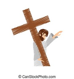drawing jesus christ pray girls
