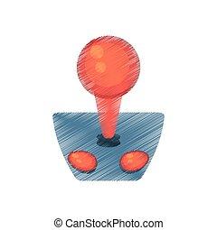 drawing joystick controller retro game