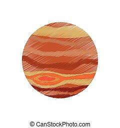 drawing jupiter planet system solar