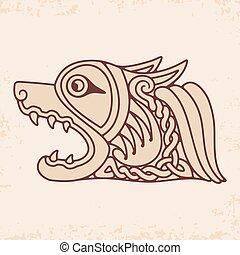 drawing., keltský, národnostní