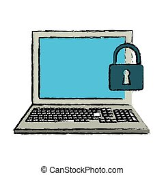 drawing laptop data security system technology