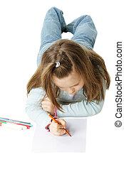 Drawing little girl