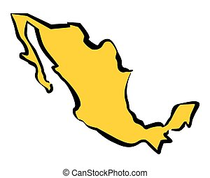 Drawing map of Mexico