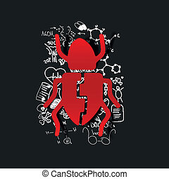 Drawing medical formulas: beetle