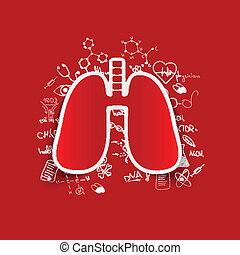 Drawing medical formulas: lung