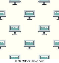 Drawing monitor pattern seamless