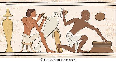 drawing., nacional, egípcio