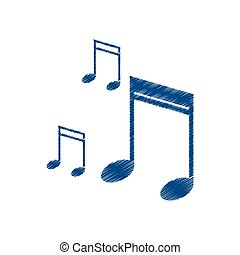 drawing note music audio sound vector illustration eps 10