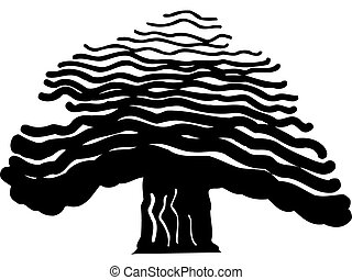 Drawing of a bold tree