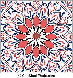 Drawing of a floral mandala