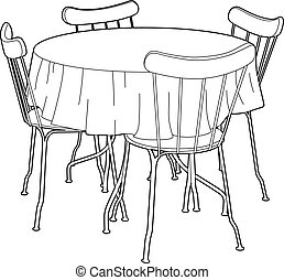 Kitchen table Vector Clipart Royalty Free. 22,825 Kitchen ...
