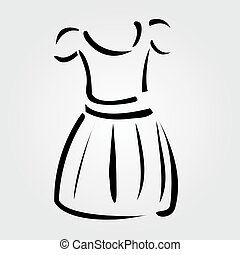 Drawing of a pinafore- apparel logo