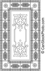 Drawing of a stained glass