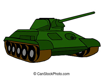 drawing of a tank on white background