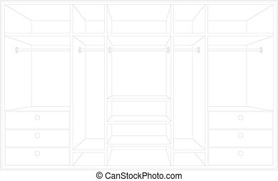 Drawing of a wardrobe.