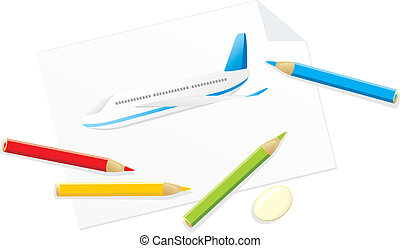 Drawing of airplane