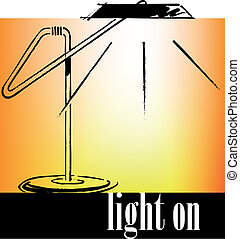 Drawing of an office lamp. Vector