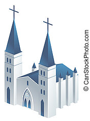 church - drawing of beautiful church in a white background