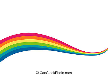 drawing of beautiful rainbow in a white background