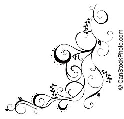 drawing of beautiful vine in a white background