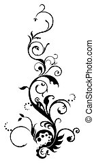 drawing of black vines pattern in a white background
