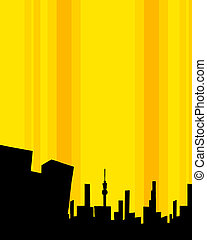 modern building silhouette