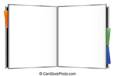 drawing of notebook in a white background