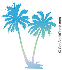 palm - drawing of palm in a white background